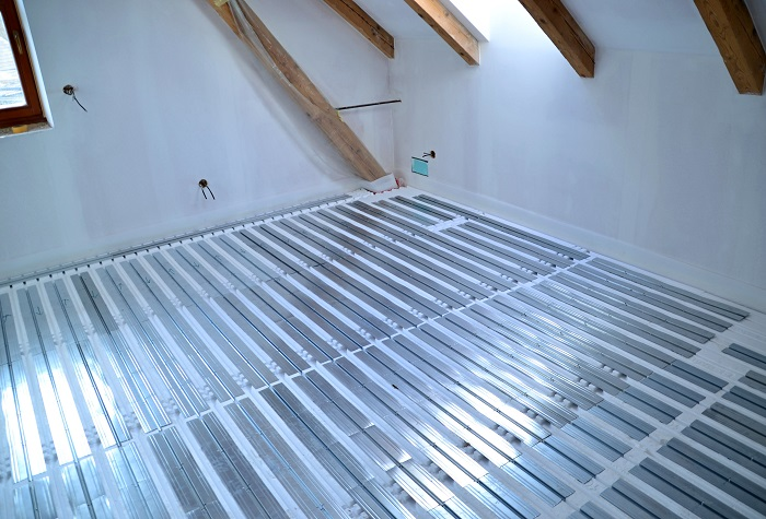 Podlahové topení - suchý systém