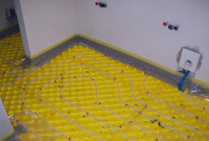 Podlahové topení a kotel